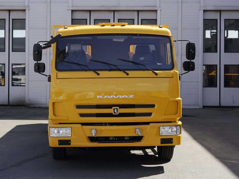 Бортовой КамАЗ 4308, 2018, желтый фото 1