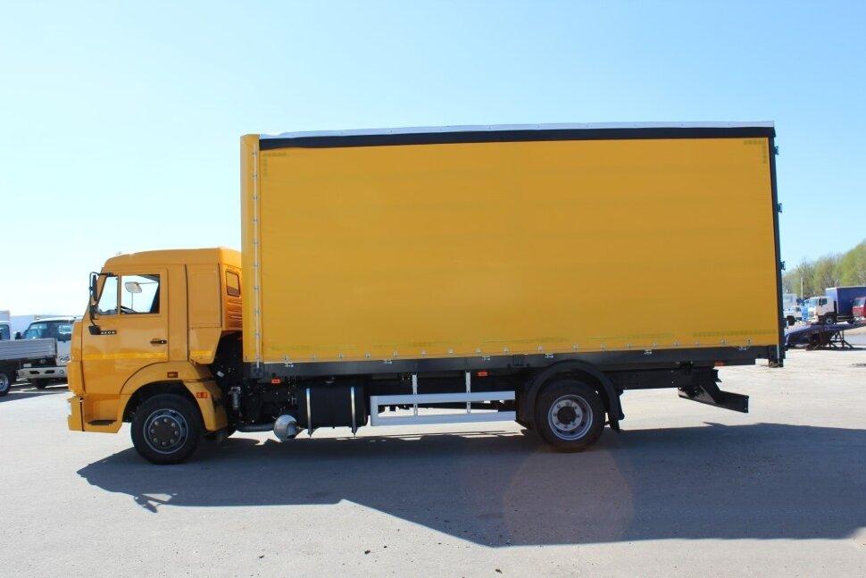 Бортовой КамАЗ 4308 евроборт, 2017, желтый фото 1