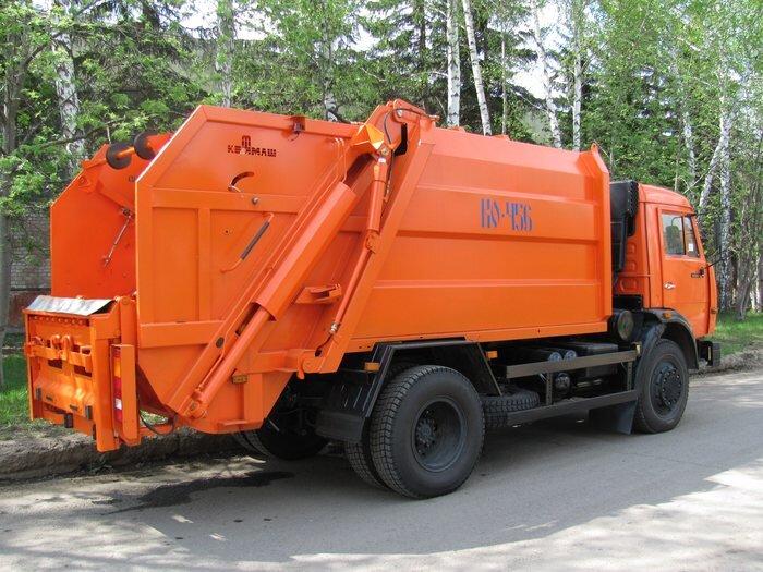 Мусоровоз КамАЗ 43253, 2016, оранжевый фото 2