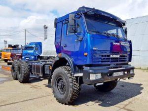 Шасси КамАЗ 43118, 2014 г, синий бу фото