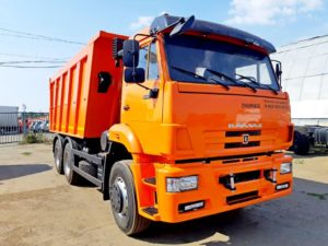 Самосвал КамАЗ 6520, 2017, оранжевый бу фото