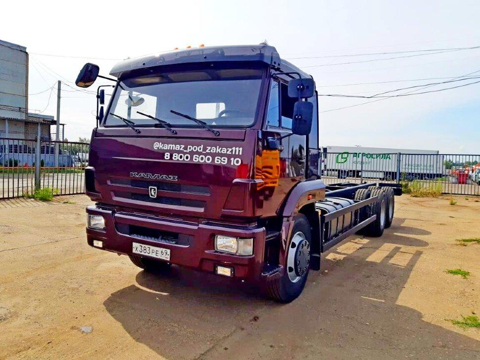 Шасси КамАЗ 65117, 2013 г, портвейн фото 2