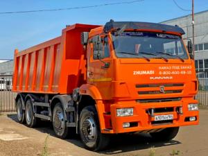 Самосвал КамАЗ 65201, 2017 г, оранжевый бу фото