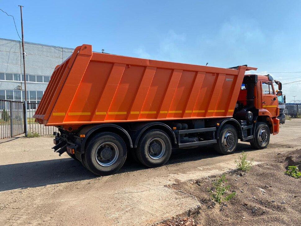 Самосвал КамАЗ 65201, 2017 г, оранжевый фото 4