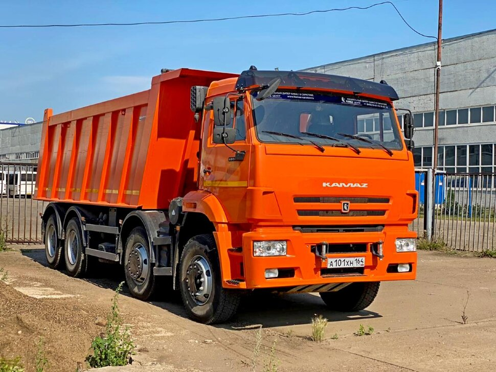 Самосвал КамАЗ 65201, 2017 г, оранжевый фото 20
