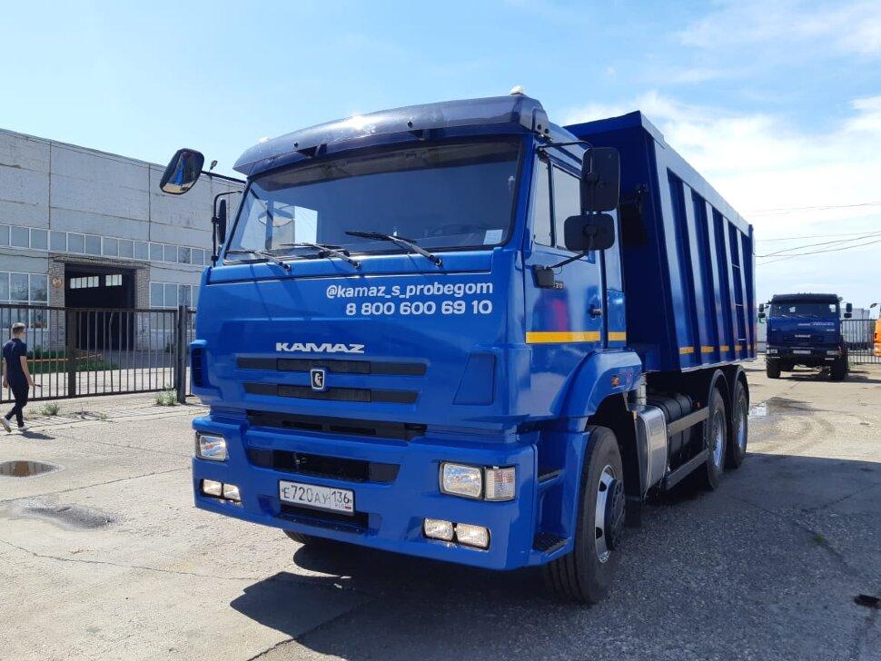 Самосвал КамАЗ 6520, 2017 г, синий фото 2