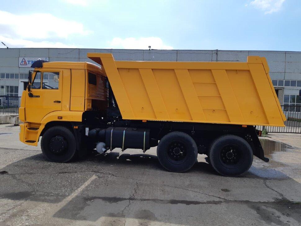 Самосвал КамАЗ 65115, 2014, желтый фото 4