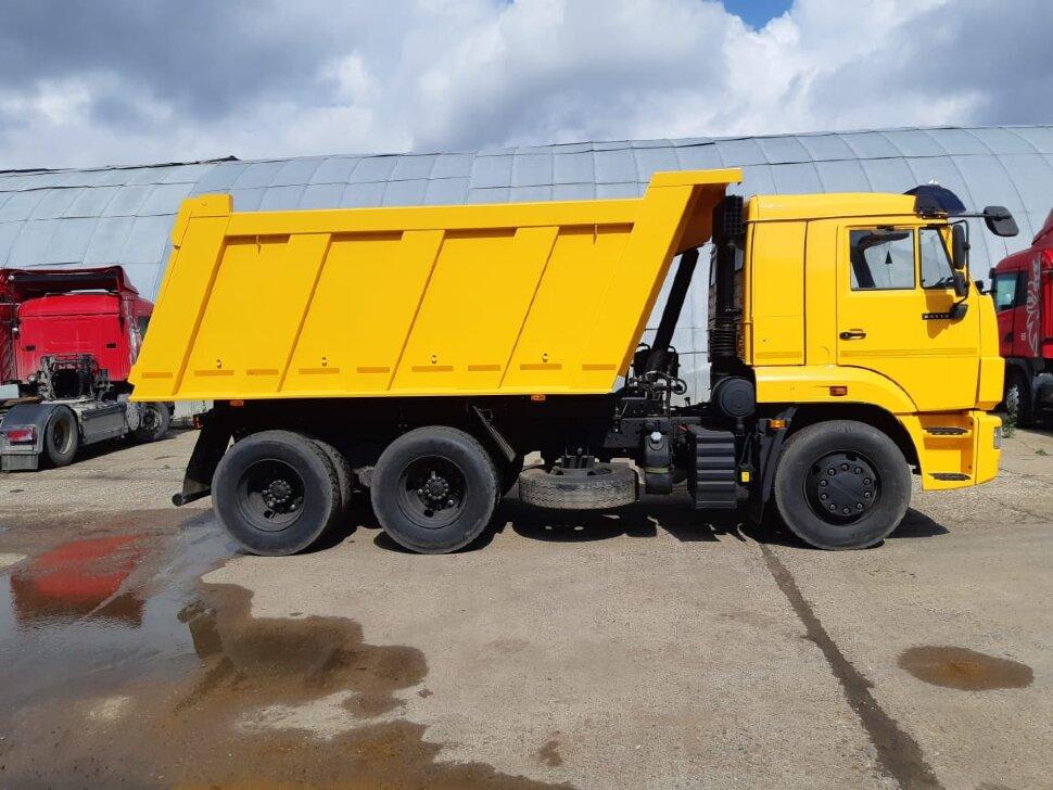 Самосвал КамАЗ 65115, 2014, желтый фото 3