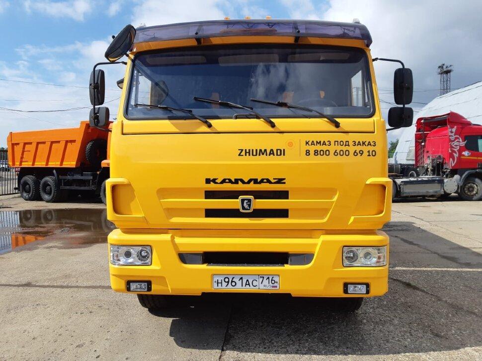 Самосвал КамАЗ 65115, 2014, желтый фото 1