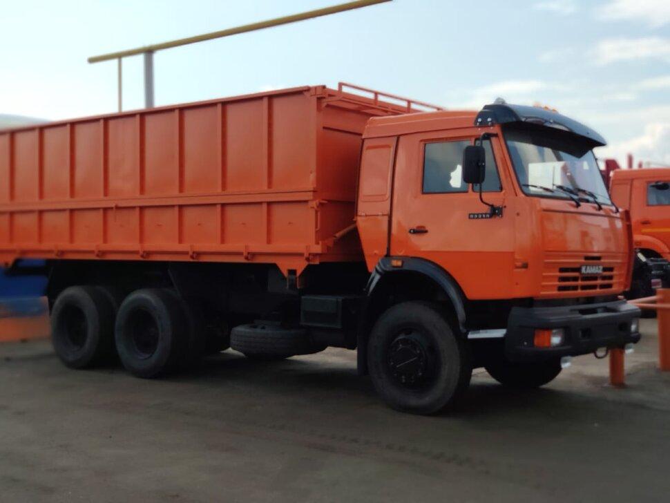 Самосвал сельхозник КамАЗ 53215, 2014, оранжевый фото 4