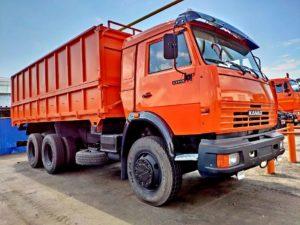 Самосвал сельхозник КамАЗ 53215, 2014, оранжевый бу фото