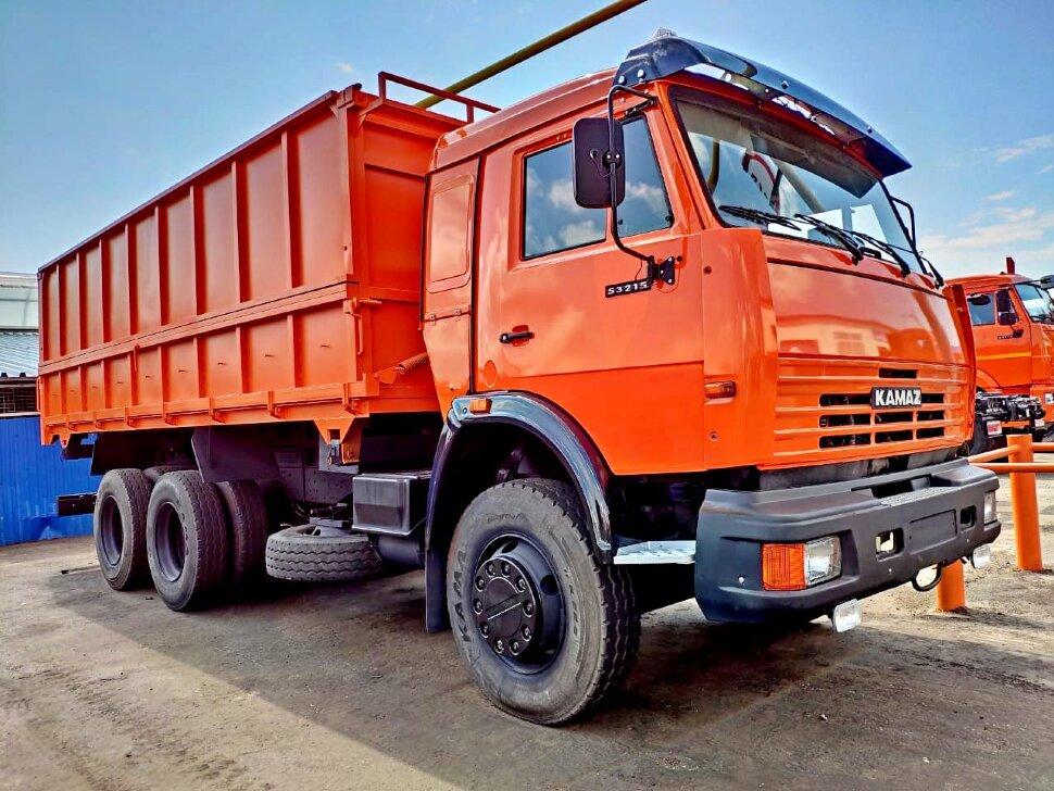 Самосвал сельхозник КамАЗ 53215, 2014, оранжевый фото 0
