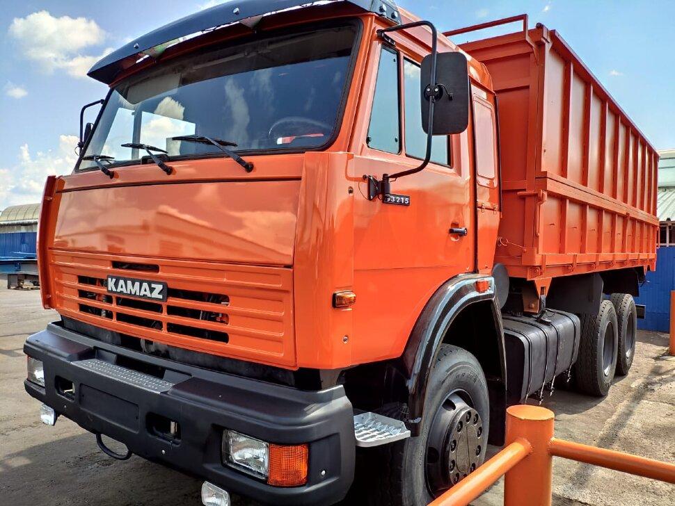 Самосвал сельхозник КамАЗ 53215, 2014, оранжевый фото 1
