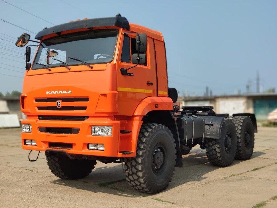 Седельный тягач КамАЗ 65221, 2011, оранжевый фото 2