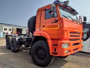 Седельный тягач КамАЗ 65221, 2011, оранжевый бу фото