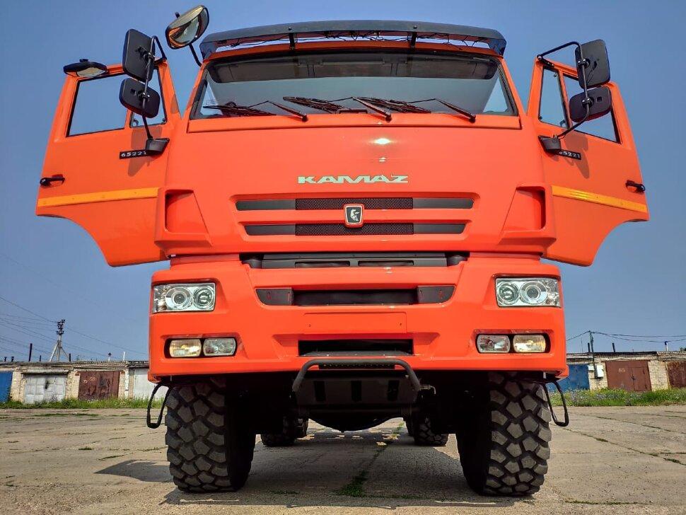 Седельный тягач КамАЗ 65221, 2011, оранжевый фото 3