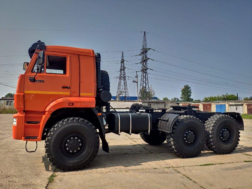Седельный тягач КамАЗ 65221, 2011, оранжевый фото 4
