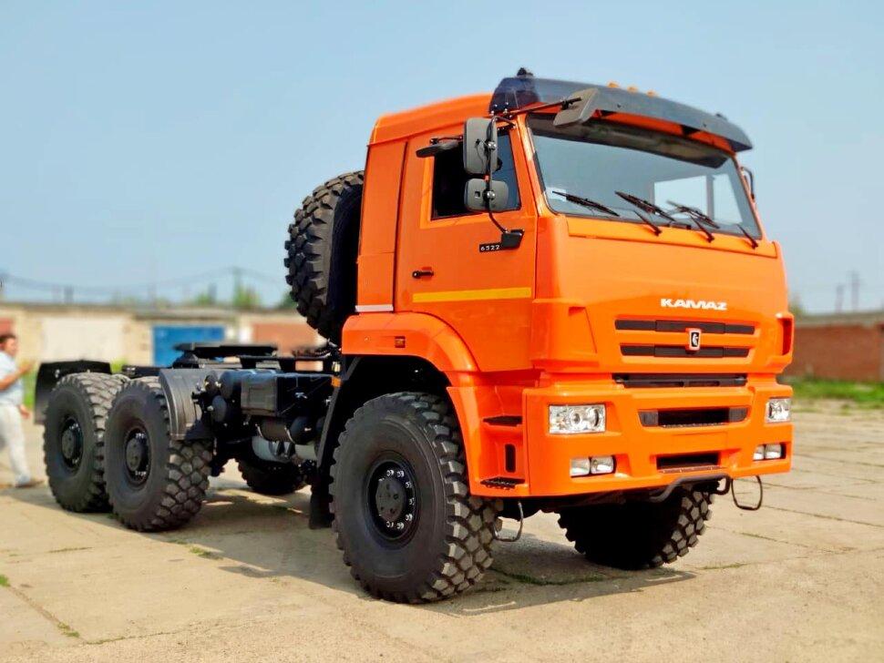 Седельный тягач КамАЗ 65221, 2011, оранжевый фото 19