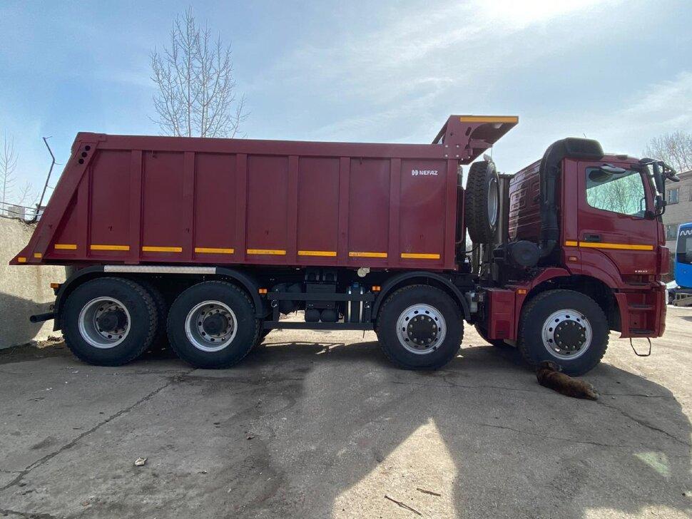 Самосвал КамАЗ 65801, 2018 г, красный фото 1