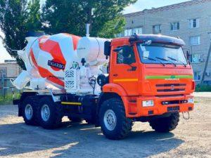 Автобетоносмеситель КамАЗ 43118, 2010 г, оранжевый бу фото