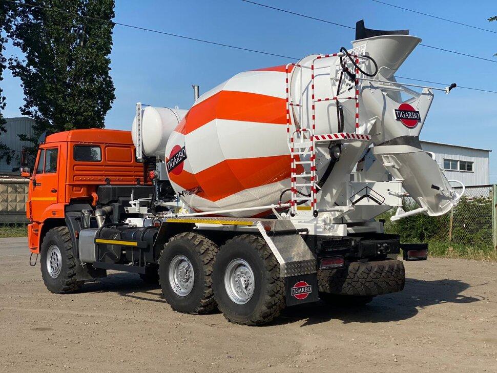 Автобетоносмеситель КамАЗ 43118, 2010 г, оранжевый фото 2