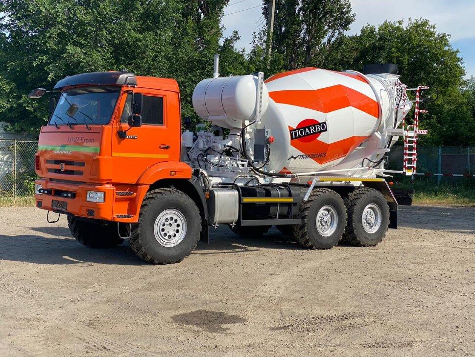 Автобетоносмеситель КамАЗ 43118, 2010 г, оранжевый фото 4