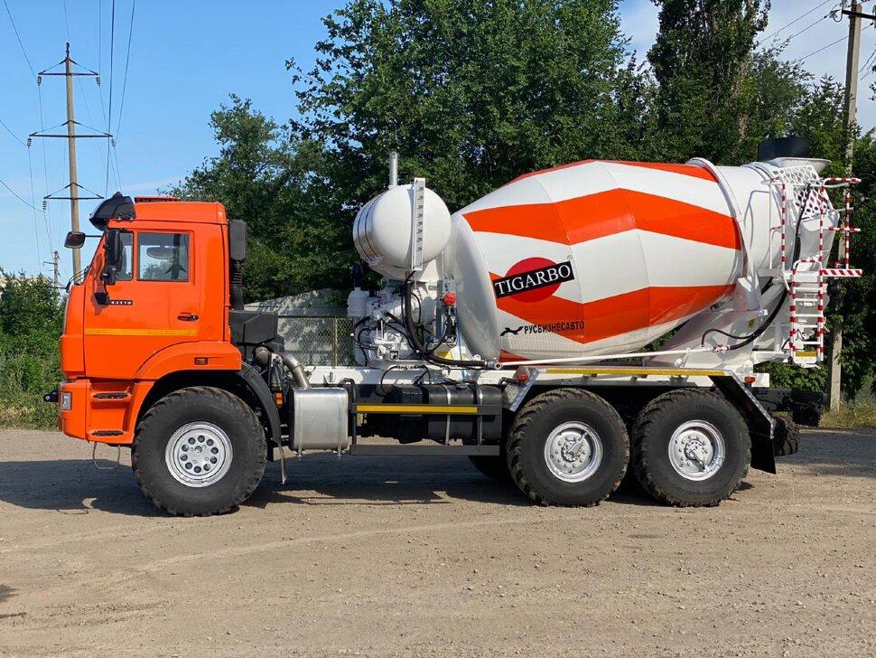 Автобетоносмеситель КамАЗ 43118, 2010 г, оранжевый фото 5