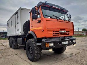 Автомастерская на шасси КамАЗ 43118, 2013, оранжевый бу фото