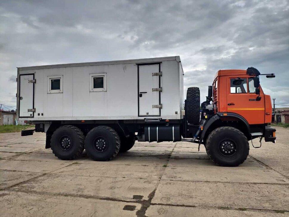 Автомастерская на шасси КамАЗ 43118, 2013, оранжевый фото 2