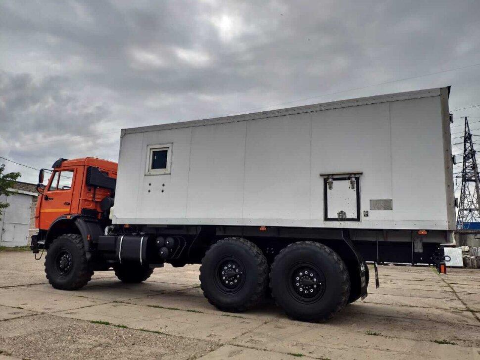 Автомастерская на шасси КамАЗ 43118, 2013, оранжевый фото 3