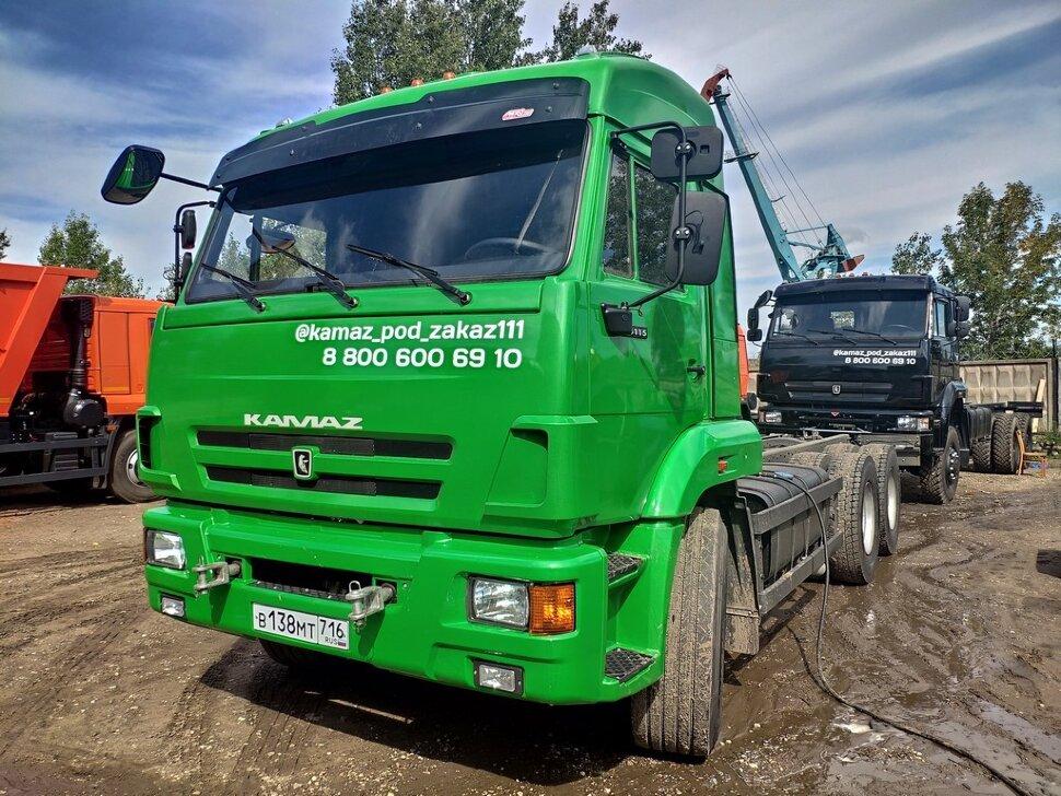 Шасси КамАЗ 65115, 2013, зеленое яблоко фото 1