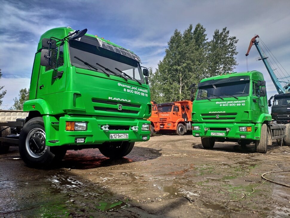 Шасси КамАЗ 65115, 2013, зеленое яблоко фото 7