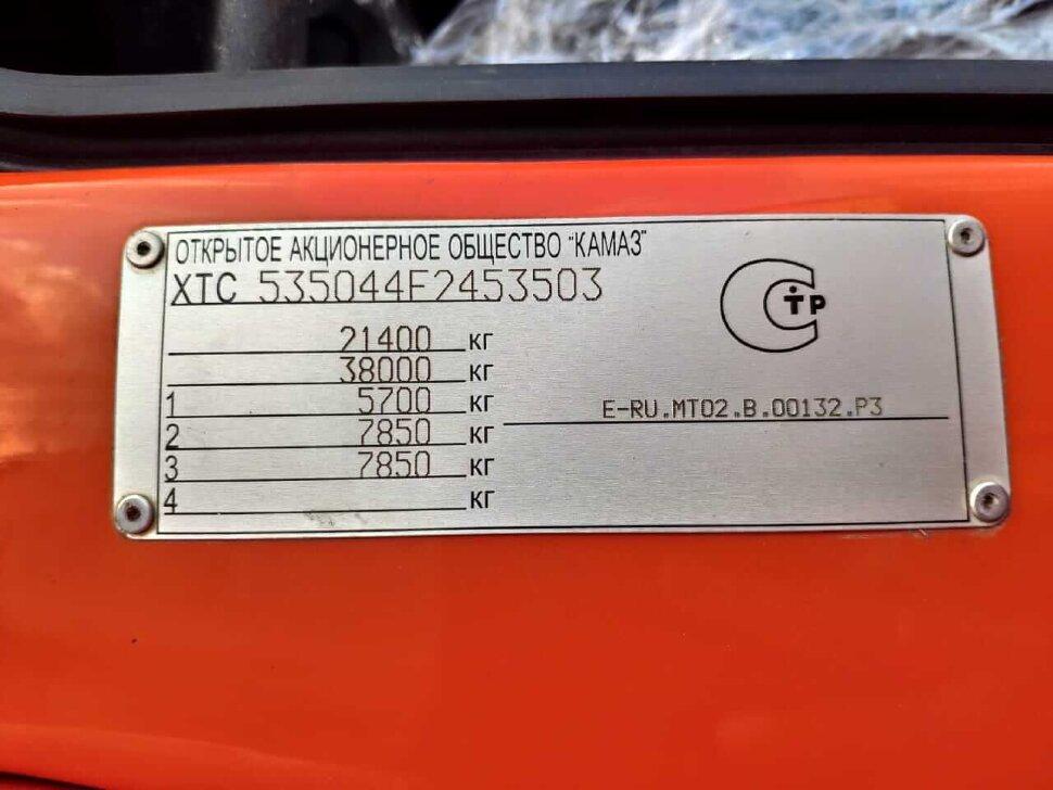 Седельный тягач КамАЗ 53504, 2018, оранжевый фото 13