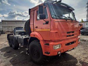 Седельный тягач КамАЗ 53504, 2018, оранжевый бу фото