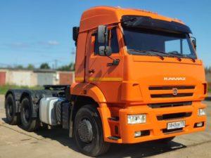 Седельный тягач КамАЗ 6460, 2015, оранжевый бу фото