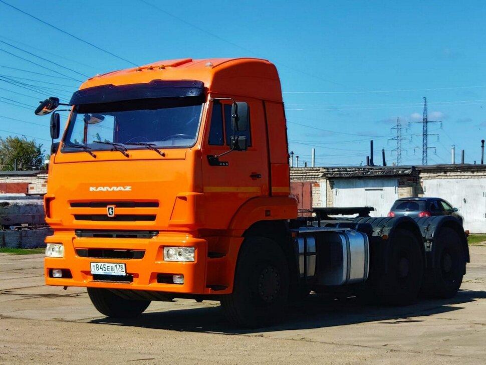 Седельный тягач КамАЗ 6460, 2015, оранжевый фото 2