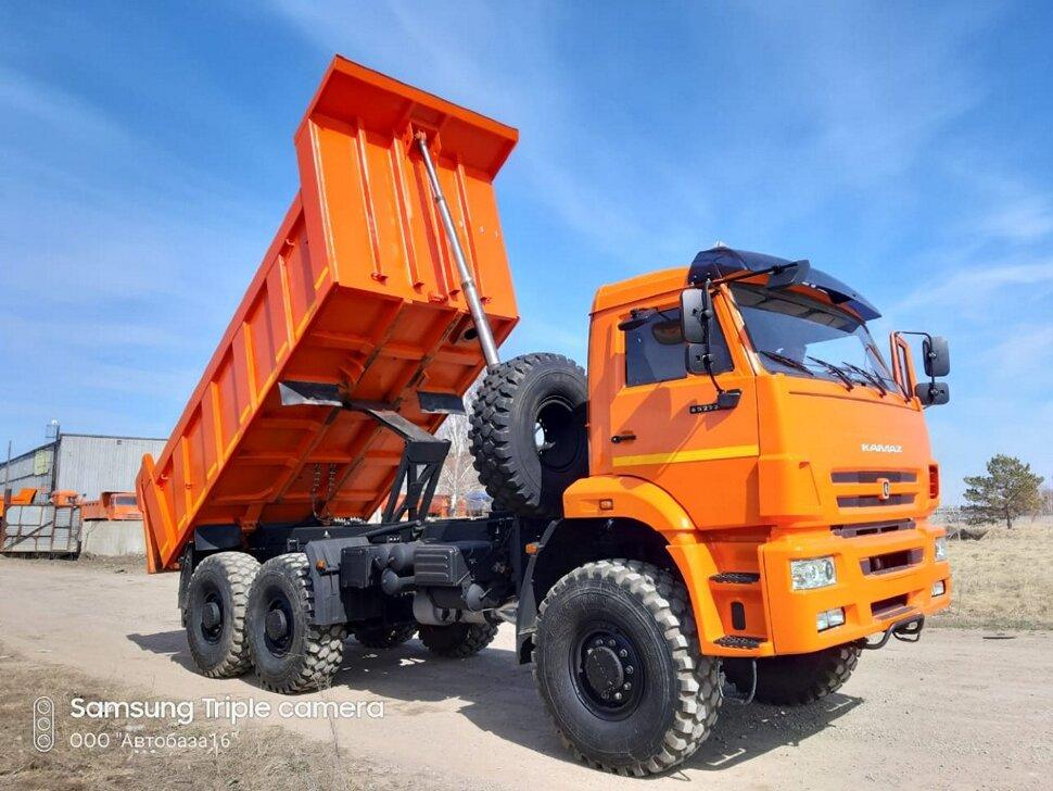 Самосвал КамАЗ 65222, 2015, оранжевый фото 2