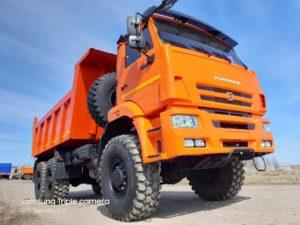 Самосвал КамАЗ 65222, 2015, оранжевый бу фото