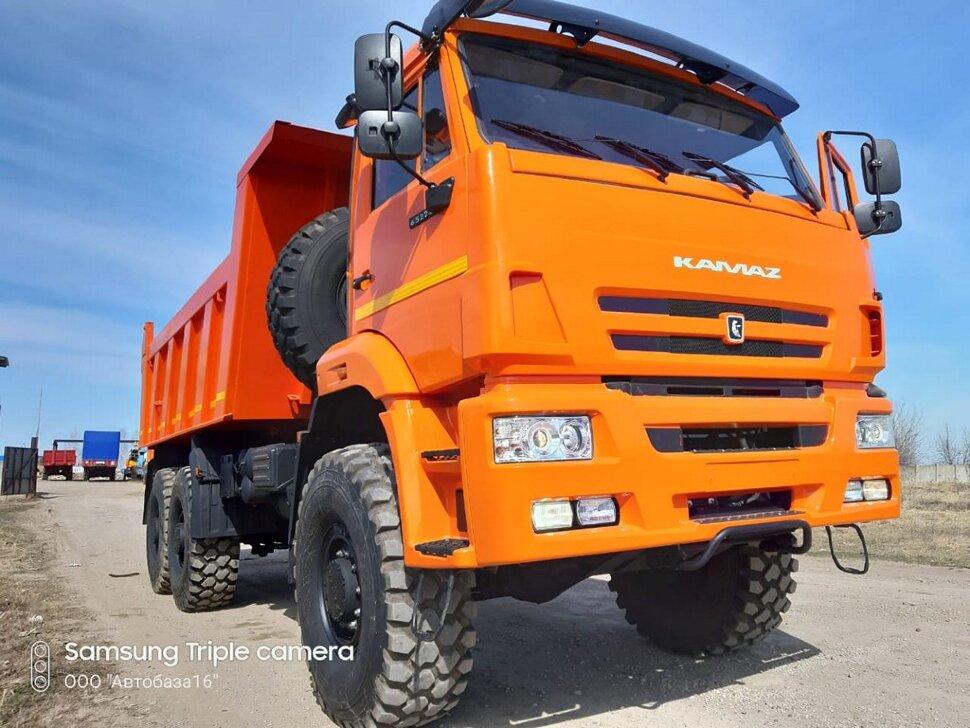 Самосвал КамАЗ 65222, 2015, оранжевый фото 8