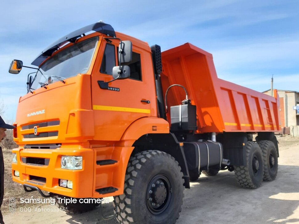 Самосвал КамАЗ 65222, 2015, оранжевый фото 1
