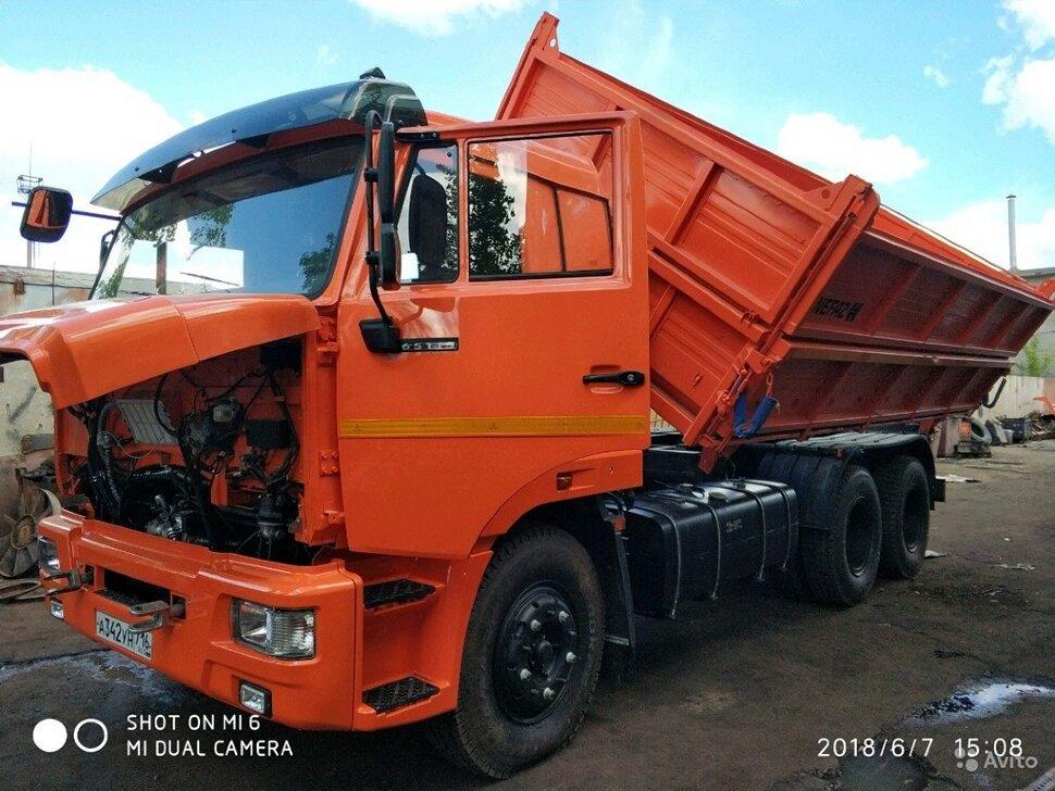Самосвал сельхозник КамАЗ 65115, 2014, оранжевый фото 3