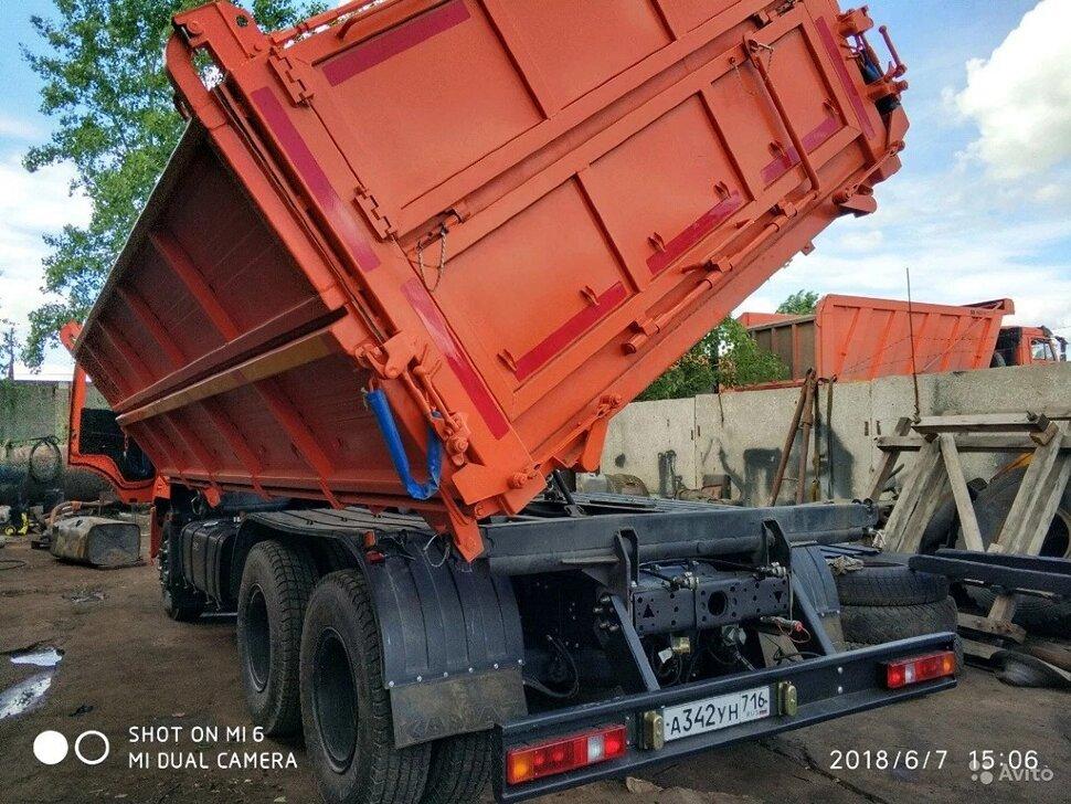 Самосвал сельхозник КамАЗ 65115, 2014, оранжевый фото 9