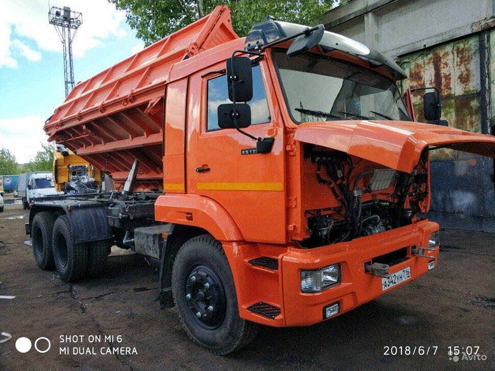 Самосвал сельхозник КамАЗ 65115, 2014, оранжевый фото 4