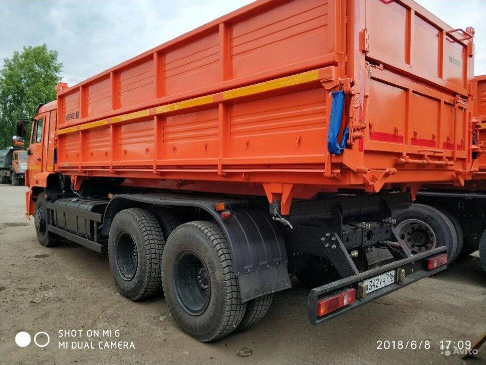 Самосвал сельхозник КамАЗ 65115, 2014, оранжевый фото 6