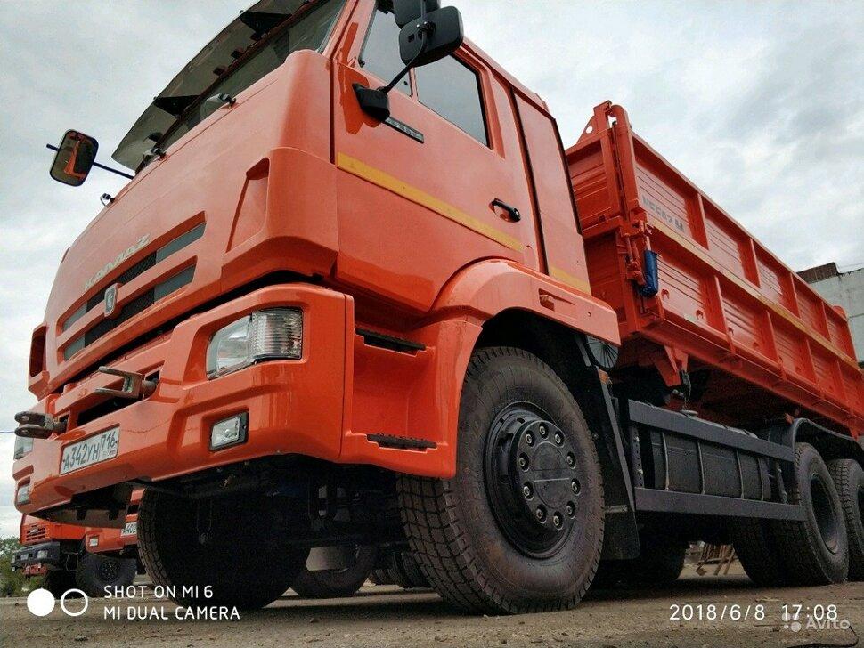 Самосвал сельхозник КамАЗ 65115, 2014, оранжевый фото 7