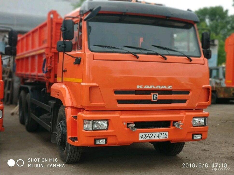 Самосвал сельхозник КамАЗ 65115, 2014, оранжевый фото 0