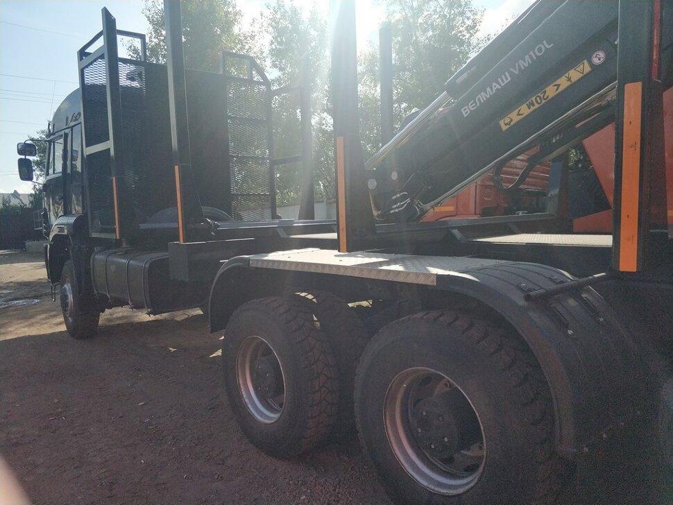 Сортиментовоз с ГМУ КамАЗ 6522, 2011, черный фото 6