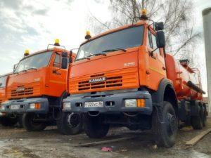 Автоцистерна бензовоз КамАЗ 65111, 2014, оранжевый бу фото