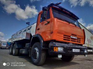 Автоцистерна молоковоз КамАЗ 65115, 2013, оранжевый бу фото