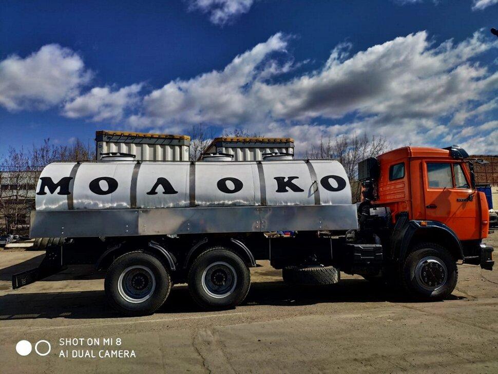 Автоцистерна молоковоз КамАЗ 65115, 2013, оранжевый фото 7